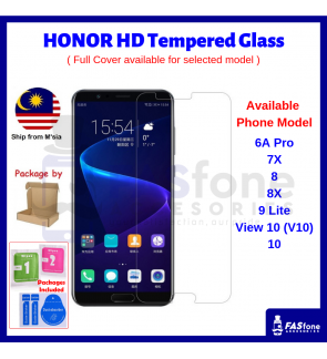 2.5D 9H Tempered Glass for Honor 6x 7x 8 8x 9 Lite Pro View 10 V10 Note V20