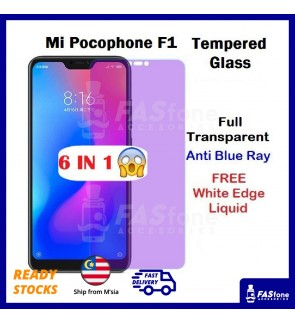 Full Cover Anti Blue Light Purple Tempered Xiao MI PocoPhone F1