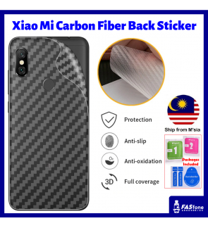 Xiao Mi Note 3 4 4I 5 5S Max Mix 2s 3 A1 A2 Lite Black Shark 2 Hello Carbon Fiber Back Sticker
