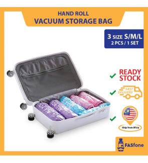 Vacuum Bag Compression Bag Hand Roll Storage Bag Luggage Travel Space Saving