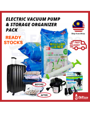 8 Vacuum Bag Compression Bag Storage Bag Pump Luggage Travel Space Saving Strong