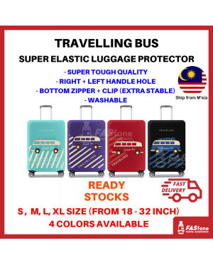 Luggage Protector Elastic Luggage Cover Luggage Suitcase Dream Bus Travel