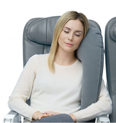 Ergonomic Inflatable Neck Nap Travel Pillow Car Flight Bus Convenient 2019