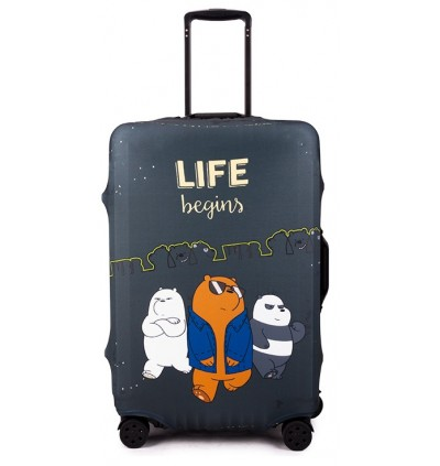 Luggage Protector Elastic Luggage Cover Luggage Suitcase WE BARE BEARS 2019 NEW
