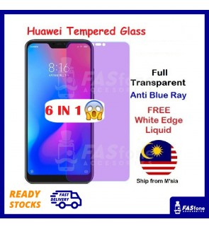 HUAWEI P30 P20 P10 PLUS LITE PRO MATE 9 10 20 20X Full Purple Light Tempered Glass