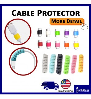 Cable Protector For Apple Lightning - 10 Colors [Bundle Pair]