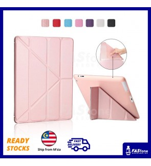 Tri Fold Auto Wake Sleep Soft TPU Flip Cover for Apple iPad 2 3 4 2017 2018