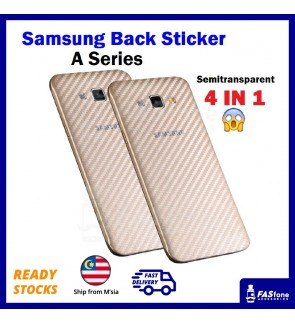 Carbon Fiber Back Sticker for Samsung Galaxy A5 A7 A8 A6 Plus 2015 2016 2017
