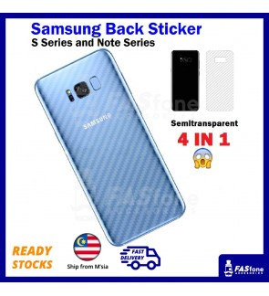 Carbon Fibre Back Sticker Samsung Galaxy S7 Edge S8 S9 Plus Note 5 8 9 C9 Pro FE