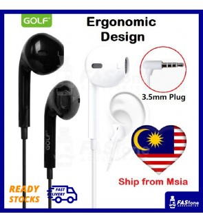 GOLF Smooth Comfort Ergonomic Wired headset earphone for Android and IOS device