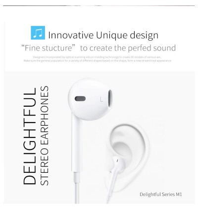 GOLF USB TYPE C Smooth Comfort Ergonomic Wired headset earphone for Android and IOS device