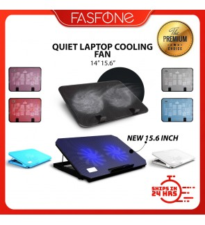 """(Ready Stocks in Malaysia) NEW Quiet Laptop Cooling Cooler USB Big Fan with 2 Fan 14"""" 15.6"""""""