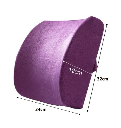 (Upgrade) Cushion Chair Support Memory Foam Pillow Lumbar Back Support Premium