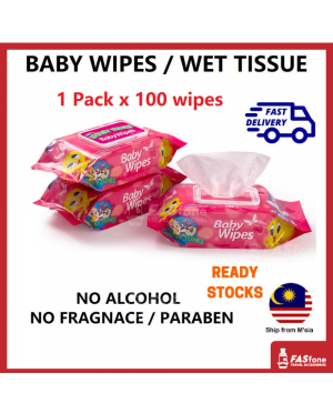 (1Pack X 100ply) Wet Tissue Baby Wipes Wet Wipes Fragrance Paraben Alcohol Free