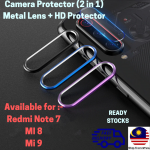 REDMI NOTE 7 MI 8 MI 9 Camera Ring Protector Lens Tempered Glass Protector