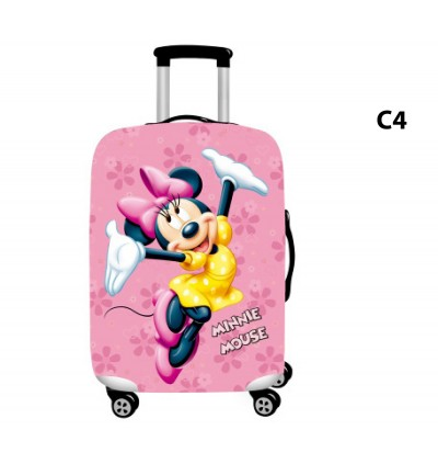 Luggage Protector Elastic Luggage Cover Luggage Suitcase Anti Scratch Dust Proof Pink Panther Mickey Minnie