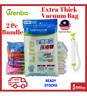 Wenbo Vacuum Bag Compression Bag Storage Bag Pump Luggage Travel Space Saving Strong