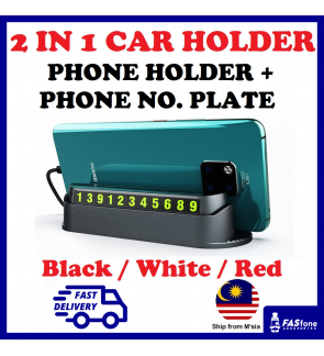 Anti Slip Mat Phone Holder Temporary Car Parking Phone Number Tag 2 IN 1