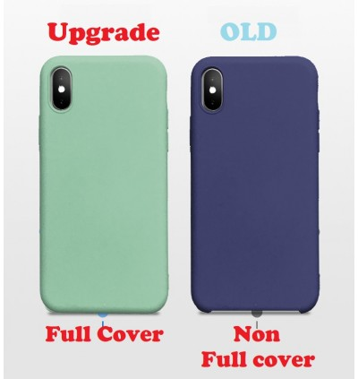 (Upgrade New) iPhone XS MAX XR Xs X 6 6s 7 8 Plus Liquid Silicone Back Case Back Cover