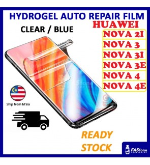 Huawei Nova 5T 7i 2i  3i 3e 4 4e Hydrogel Soft Screen Protector Film Auto Repair Screen Full Cover
