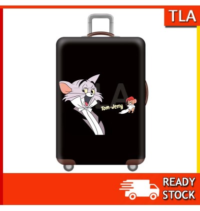 Luggage Protector Elastic Cover Luggage Suitcase Anti Scratch Dust Proof Tom Jerry Mickey Minnie Goofy Looney Tunes