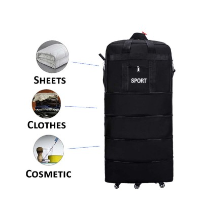 Foldable Oxford Fabric 32Inch Luggage Foldable Luggage Space Saving Roller Luggage
