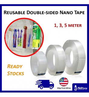 Reusable Double sided Nano Tape 1m 3m 5m Washable Tape