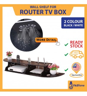 (Local Ready Stocks) Wall Shelf Wall Rack Router Tv Box Controller Holder Space Saving Shelf