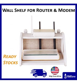 (Local Ready Stocks) Wall Rack Wall Shelf Router Modem Holder Space Saving Shelf
