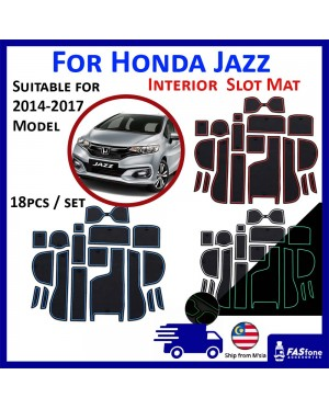 (M'sia Ready Stocks) Honda Jazz Car Interior Slot Mat 2014-2019 Storage Carpet