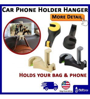 Car Hanger Phone Holder Car Grocery Bag Holder Head Rest Hook