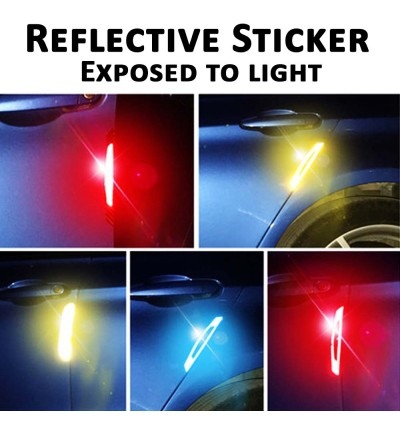 Safety Car Door Bumper Side Mirror Door Handle Reflective Sticker Car Warning Sticker