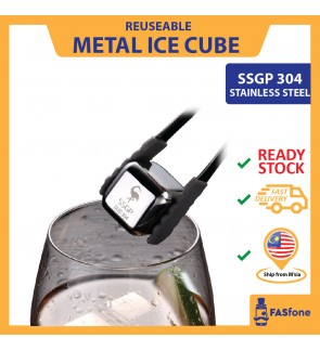 SSGP Stainless Steel Ice Cubes 304 Metal Quick Frozen Ice Tartar Ice Granules Ice Clips Ice Hockey Whiskey Iced Cooler