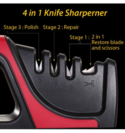 SSGP 304 (Ready Stock in Malaysia) Knife Sharperner Scissors Sharpener 4 in 1