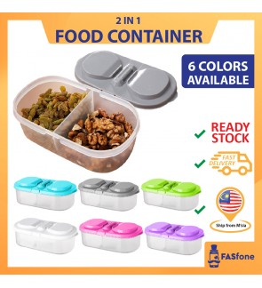 2 IN 1 Food Container Small Container Spice Container Beans Container