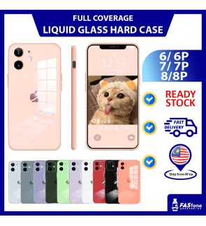(Ready Stocks @ Malaysia) iPhone 6 6s Plus 7 Plus 8 Plus SE2 Mirror Glass Liquid Silicone iPhone Casing Camera Protector