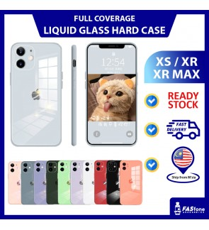 (Ready Stocks @ Malaysia) iPhone X Xs Max XR Mirror Glass Liquid Silicone iPhone Casing Camera Protector