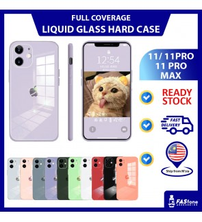 (Ready Stocks @ Malaysia) iPhone 11 Pro Max Mirror Glass Liquid Silicone iPhone Casing Camera Protector