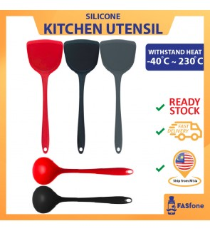 SILICONE SPATULA AND SOUP SPOON