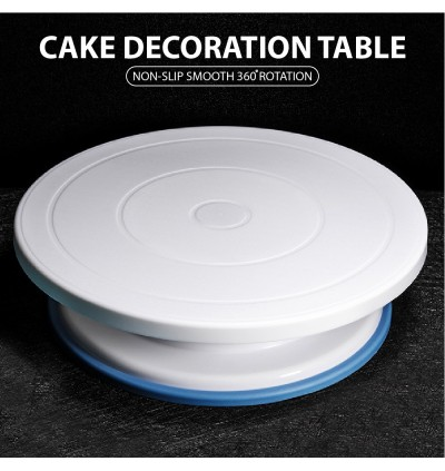 DIY Bakeware Table 11 Inch Cake Decoration Anti Slip Rubber 360 Rotation Display Mount