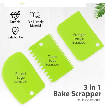 Kitchen Tools Bakeware 3 In 1 Set Cream Cake Mold Tools Scrapper Teeth Edge Straight Round Angle