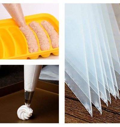 Decoration Cake Cream Bakeware Disposable Pipping Squeeze Pastry Bag 50 Pcs Per Box