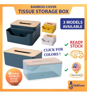 (Malaysia Ready Stocks) BIG Wooden Tissue Box Napkin Tissue Holder Tisu Box Bekas Tisu Bamboo wood Remote Holder