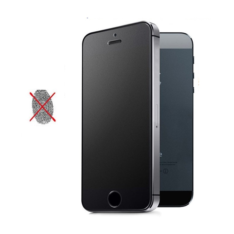 Matte iPhone 5 5S SE 6 6S 7 8 Plus X Xs Apple Round Edge Tempered Glass