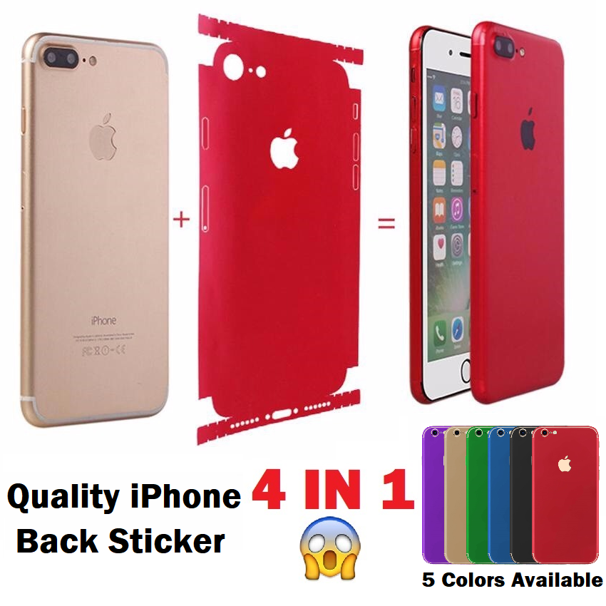 Full Cover Back Sticker for Apple iPhone 6 6S 7 Plus
