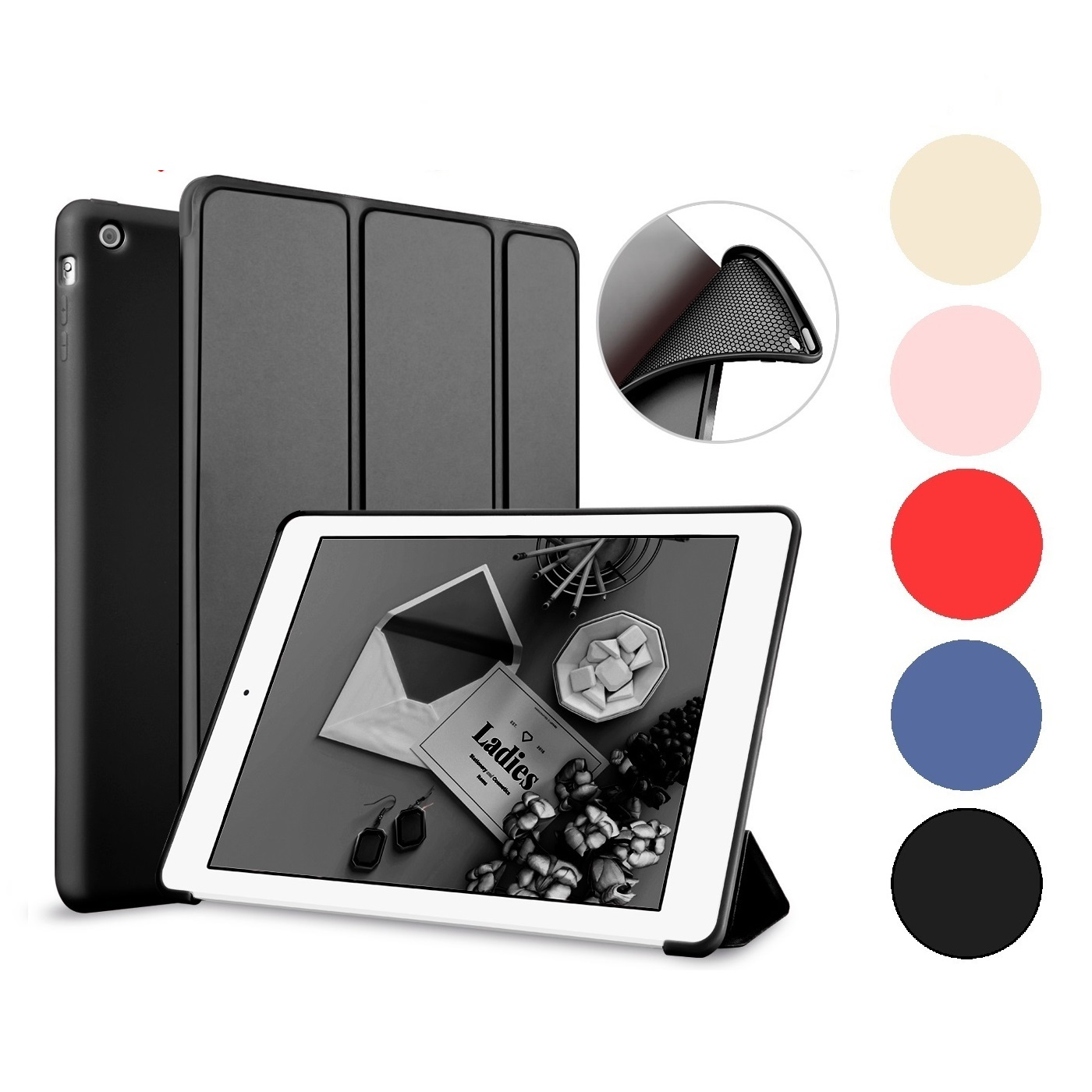 Auto Wake Sleep Soft TPU Flip Cover for Apple iPad 2 3 4 5 6 Air 1 2 Pro 9.7